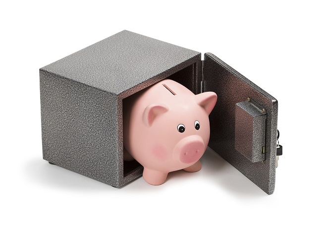Piggybank in Safe